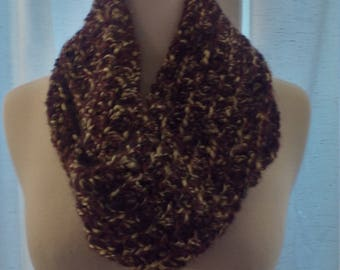 half price infinity scarf in bark brown
