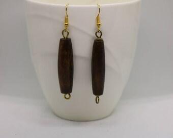 Bone / Horn Earrings/ Batik Earrings