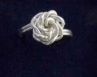 Sterling silver rose ring, silver rose wire ring, flower ring, wire jewelry, rose ring