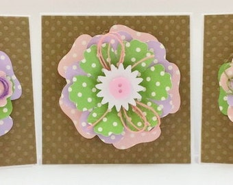 Blank Card kit, Premade Mini Cards, Handmade Card Kit, Handmade Mini Card Kit, Pre-made Blank Cards, Mini Card Kit, Card Kits