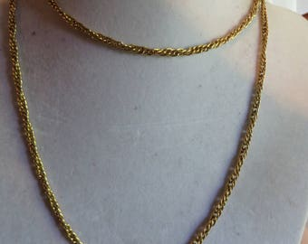 """27 1/2"""" Vintage Gold Tone Chain with Round Clasp, gold tone, link, vintage, necklace, chain, round clasp"""