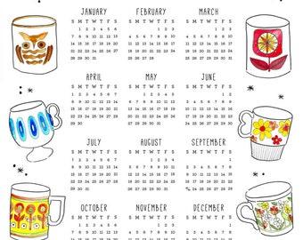 2018 Tea Time Calendar