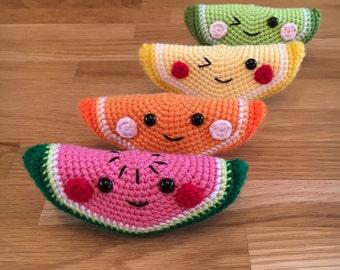 Crochet Fruit Segment