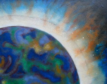 Fantasy Planet Surreal Outer Space oil painting