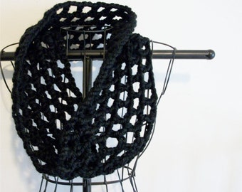 Col de dentelle noire Chunky capot Crochet dentelle accessoires de mode