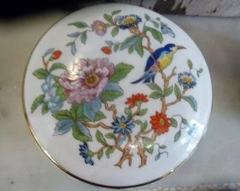 English porcelain pot with lid