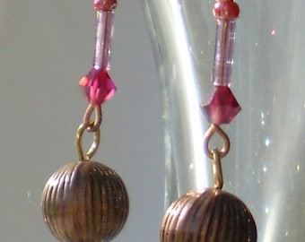 Copper spheres with magenta