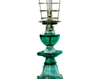 Recycled Modern Green Glass Lamp