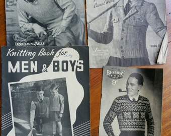 Vintage Men's Knitting Patterns 1950s?