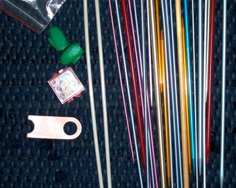 25 Knitting needles and Extras