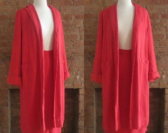 1950s Betty Rose three piece red skirt suit | 50's ladylike chic classic suit