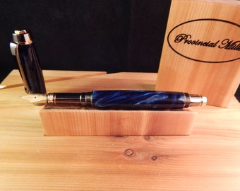 Classic Elite Fountain Pen with Bayou Blue Acrylic #FP10239*2