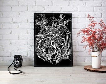 Entropy A3 Ink drawing. Original art, Pen and ink art, Fine art print, Black and white art, illustration, Original drawing, drawing, art