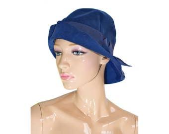 Vintage Mack Rotterdam fedora blauwe hoed