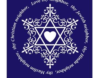 Love thy neighbor Digital Download Blank Note Card