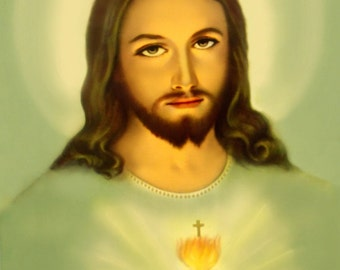 Image of the Sacred Heart of Jesus of Mercy Vintage Traditional