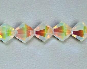 Lemon Jonquil 6mm bicone crystal, Swarovski Crystal bicone Beads XILION 6mm, Lemon Jonquil AB2X (12 PCS)