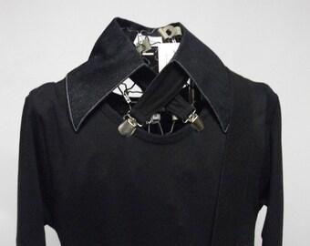 Denim collar necklace