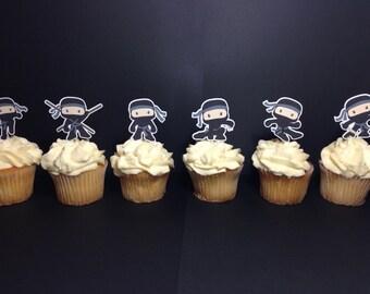 Ninja Party Cupcake Toppers (Ninja Birthday, Ninja Party, Ninja Decorations, Ninja Theme)