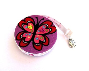 Tape Measure Heart Ladybugs and  Butterflies  Retractable Measuring Tape
