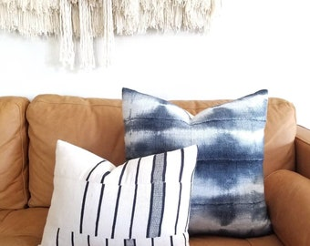 """Mudcloth pillow cover, 14""""×20"""" mudcloth blanket pillow, African pillow, mudcloth"""