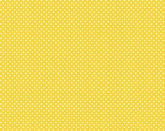 Basic Pin Dots in Yellow by In The Beginning Fabrics
