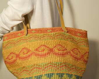 Sisil bag,tote bag,bags purses, Leather straps, Shoulder Bag