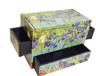 Egyptian decorative box homage to Vincent Van Gogh