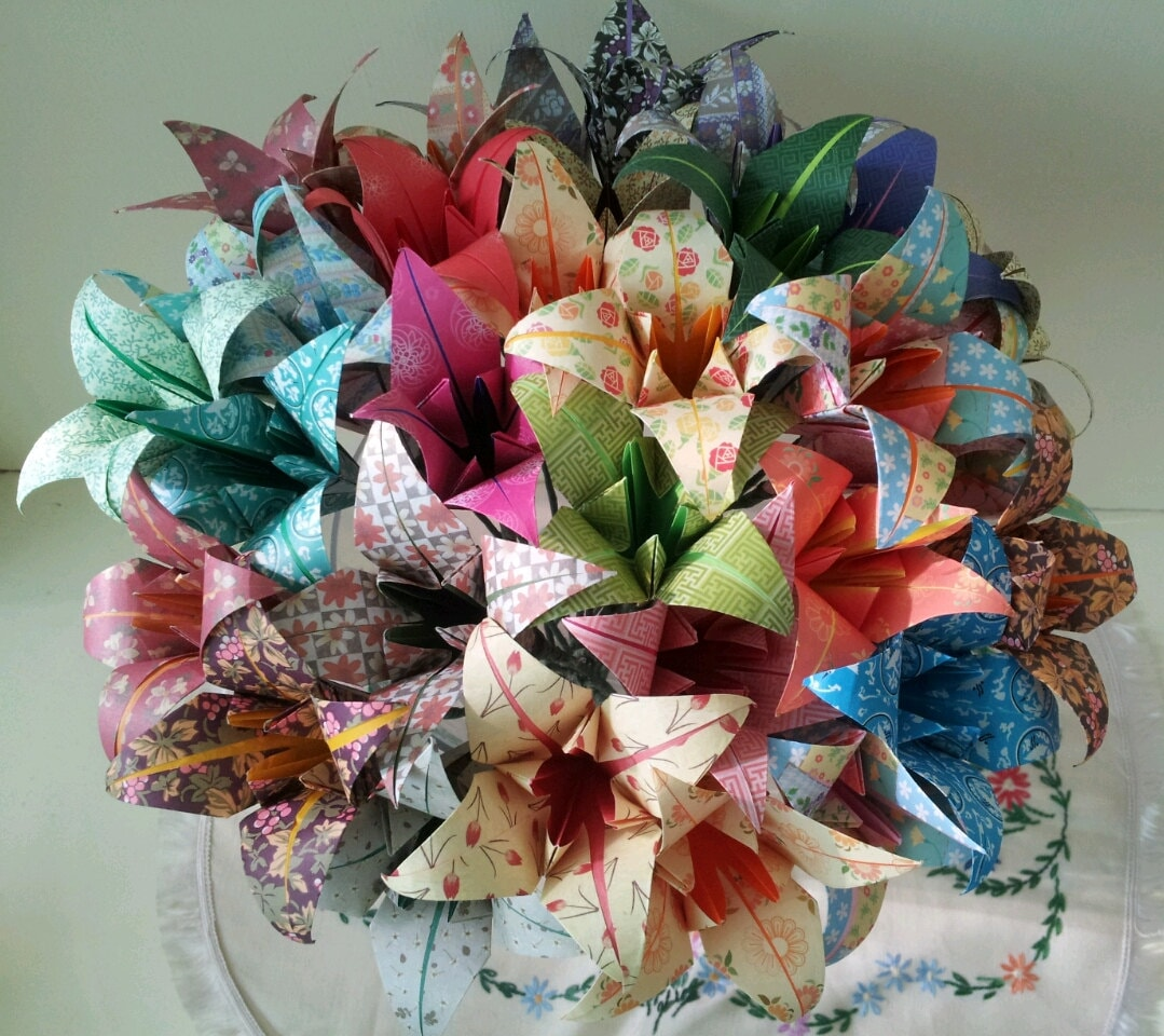Paper Flowers Lily Origami Bouquet Wedding Paper Anniversary