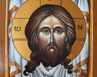 UBRUS, Orthodox Icon, Handpainted, Holy Face, Byzantine icon, Religious Gift, Jesus Christ, The Veil Of Veronica, Orthodox Art
