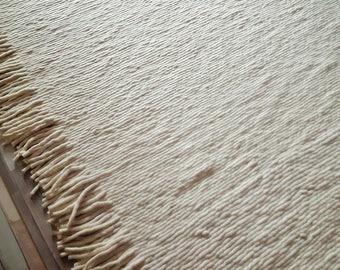 Modern felted wool rug
