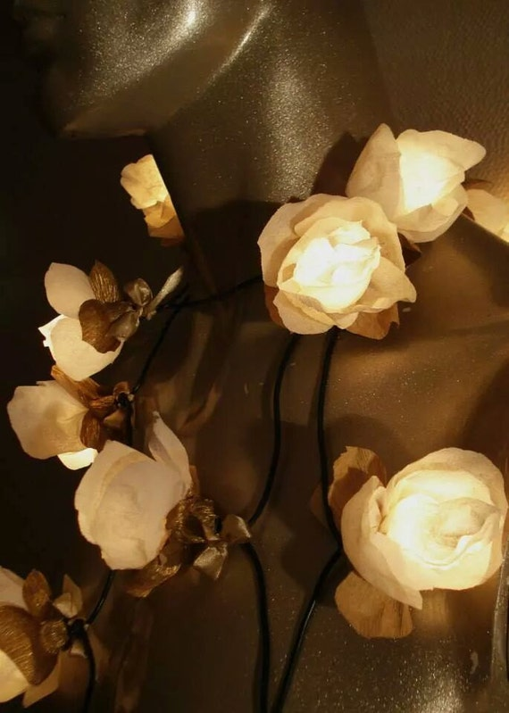 String lights of 20 roses flower string lights party fairy like this item mightylinksfo Image collections