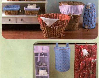 Simplicity 4631 Nursery Storage Organizers - Hamper, Basket Liner, Laundry Basket Liner & Diaper Disposer Cover Sewing Pattern