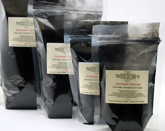 8-16 oz quality activated charcoal powder. FOOD-GRADE - completely safe for oral use.