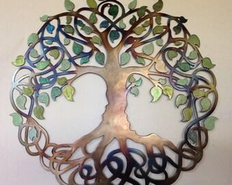 """Tree Of Life, Celtic Design- Green leaves, 23.5"""" (60 cm)"""