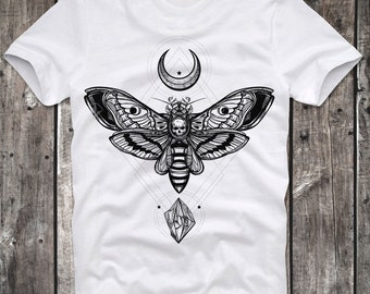 T-Shirt Moth man Mothman Satan Satanic Dark Art Goth Gothic Church Religion Lavey