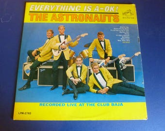 On Sale Vintage The Astronauts Everything Is A-Ok! Vinyl Record LPM-2782 RCA Victor 1964 Rare