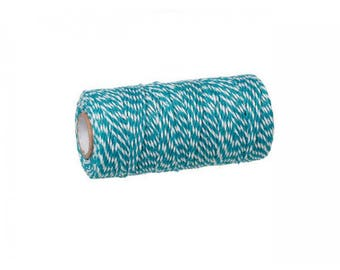 100 m spool Twine Baker's Twine Style blue and white