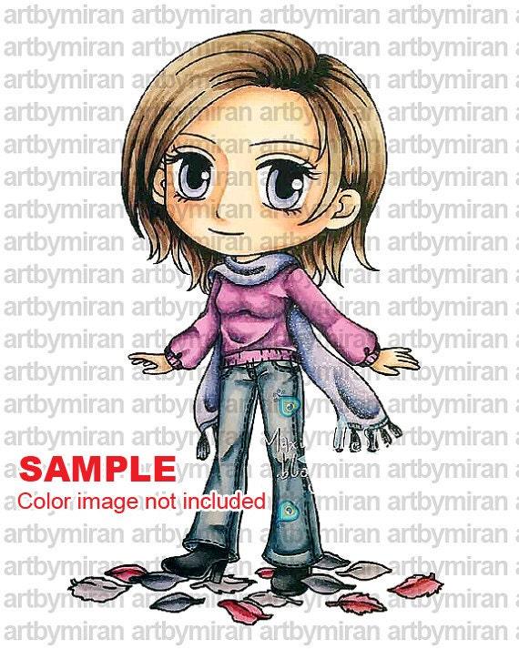 Digital Stamp Maple 245 Digi Coloring Page