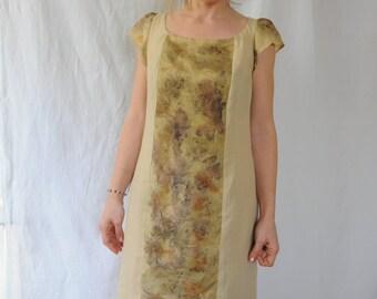 oak dress, long dress, summer dress of linen