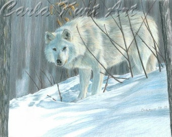 WINTER WOLF by Carla Kurt Signed print