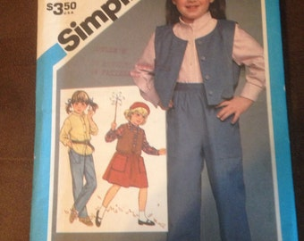 Simplicity children's clothing pattern