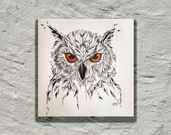 Ge-owl-metric Print (Eagle Owl)