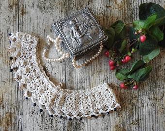 Fine Handmade Crochet Collar