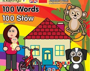 100 First Words - children's dual language / bilingual board book: Polish & English