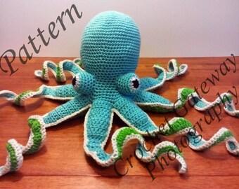 Octopus, Pattern, Octopus Pattern, Crochet Octopus, Sea World, Baby, Nursery, Sea Animals