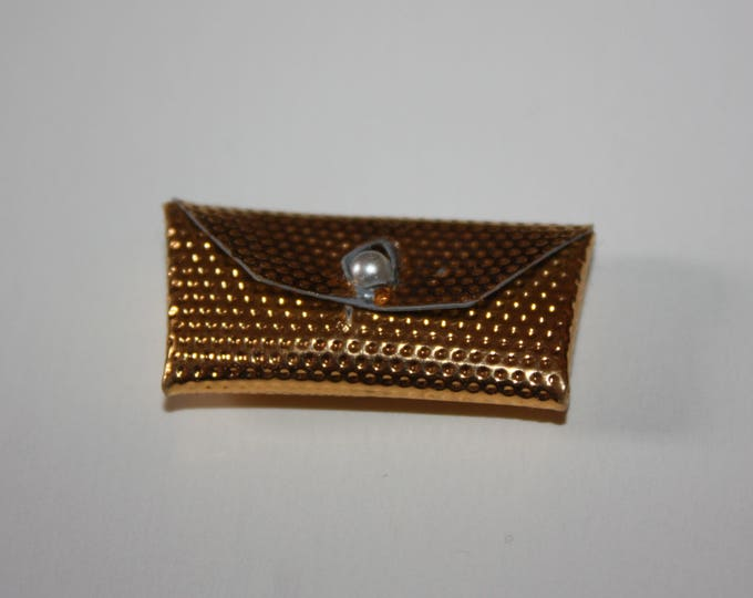 Vintage Barbie Gold Clutch Envelope Purse