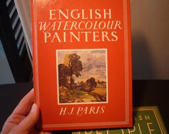 Vintage - English Watercolour Painters by H J Paris - first edition 1987 fine condition illustrations gift for anglophiles Bracken Books