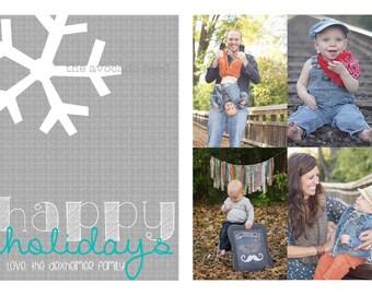 Snowflake Holiday Card - Hard Copy or Digi File