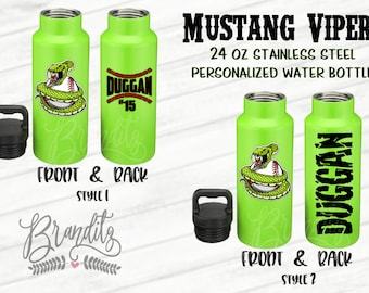 Mustang Vipers Personalized 24 oz Water Bottles